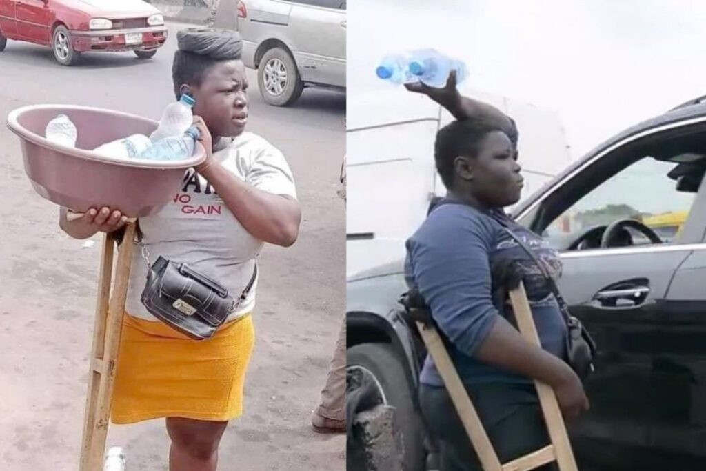 Generous Nigerians Donated a Whopping 14.3 million naira to one legged hawker
