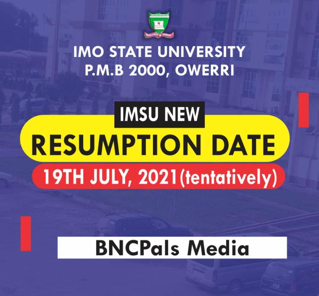 The Anticipated IMSU New Academic Session Finally Revealed.
