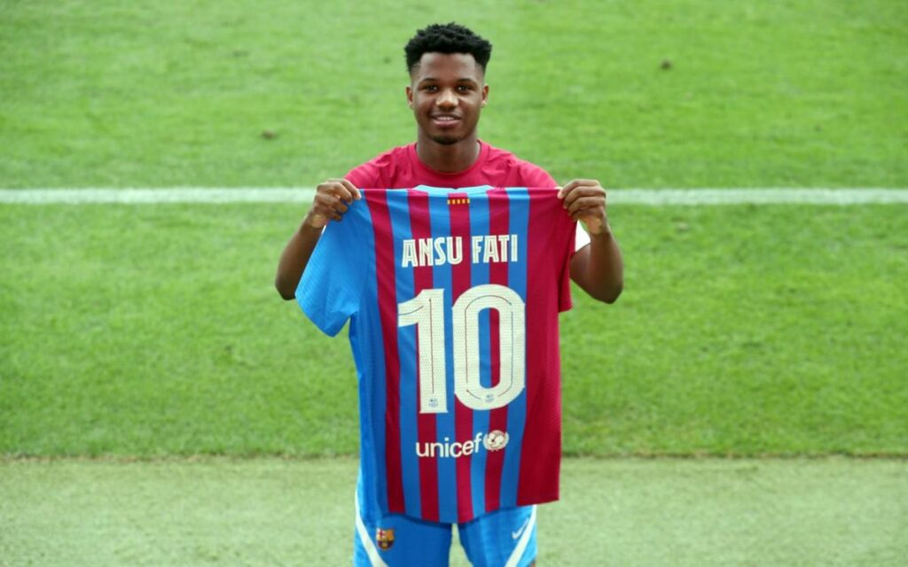 See who is wearing Messi's number 10 shirt